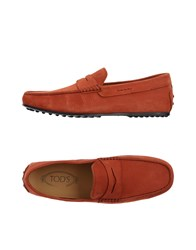 Tod's Footwear Moccasins Men Brick Red