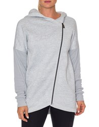 Betsey Johnson Textured Long Sleeve Hoodie Light Grey