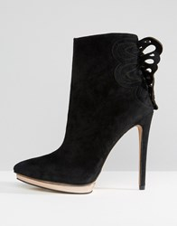 Forever Unique Minosa Heeled Boot Black