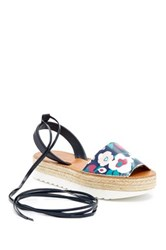 Delman Mist Lace Up Espadrille Multi