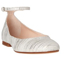 Lk Bennett L.K. Narina Ballet Pumps Metallic Cream