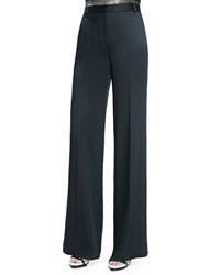 Jason Wu Wide Leg Trousers W Satin Back Black