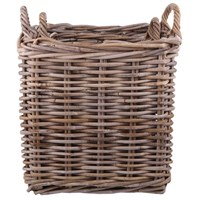 Garden Trading Square Rattan Log Baskets Set Of 2