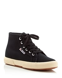 Superga Cotu Classic Lace Up High Top Sneakers Black