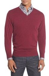 Men's Peter Millar Tipped Cashmere Blend V Neck Sweater Firenze