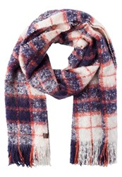 Superdry Orkney Scarf Navy Cream Multicoloured