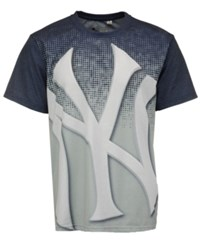 Forever Collectibles Men's New York Yankees Big Logo Sublimated T Shirt Navy Gray