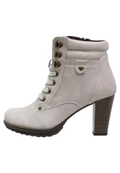 Tom Tailor Ankle Boots Light Grey Off White