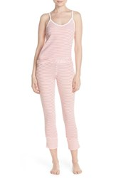 Women's Splendid Stripe Pique Pajamas Coral Stripe