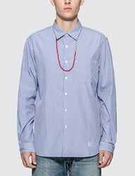 Uniform Experiment Beads Code Regular Collar Shirt Blue