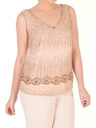 Chesca Chiffon V Neck Top Blush
