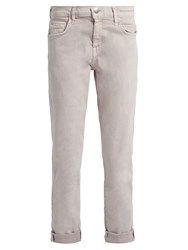 Current Elliott The Fling Straight Leg Cropped Jeans Light Pink