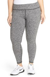 Plus Size Women's Pink Lotus 'Stealth Performance' Leggings Heather Grey