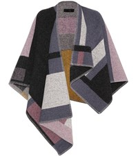 Burberry Check Wool And Cashmere Blend Cape Multicoloured
