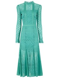 Temperley London Jade Lace Desdemona Dress Green