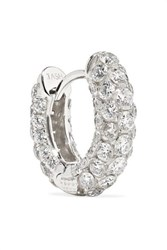 Maria Tash 6.5Mm 18 Karat White Gold Diamond Hoop Earring