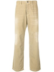 Prps Distressed Corduroy Trousers Nude And Neutrals