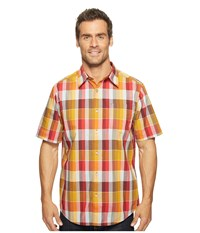 Marmot Cordero Short Sleeve Red Spice Men's Short Sleeve Button Up Brown