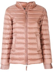 Twin Set Slim Fit Puffer Jacket Feather Down Polyamide Polyester Duck Feathers Nude Neutrals