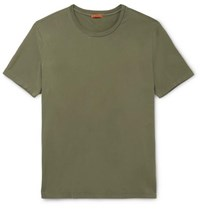Barena Slim Fit Cotton Jersey T Shirt Army Green