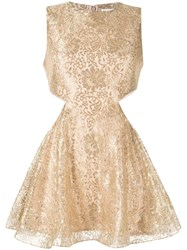 Alice Mccall Metallic Floral Lace Dress 60
