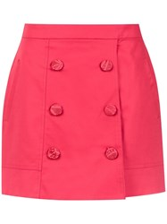 Martha Medeiros High Waisted Mini Skirt Pink