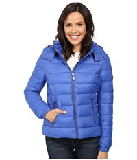Save The Duck Basic Nylon With Hood Sapphyre Blue Women's Coat