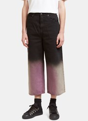 J.W.Anderson Acid Dipped Oversized Fit Jeans Black