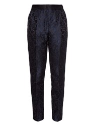 Dolce And Gabbana Satin Stripe Brocade Tuxedo Trousers
