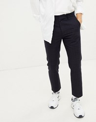 Weekday Checked Suit Trouser Navy