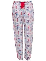 Cyberjammies Heidi Floral Print Pyjama Bottoms Red Blue