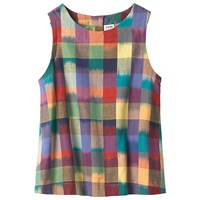 Toast Woven Ikat Check Top Multi