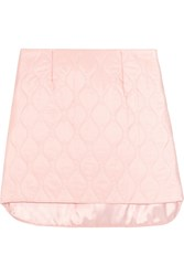 Miu Miu Quilted Shell Mini Skirt Pink