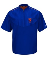 Majestic Men's Short Sleeve New York Mets Authentic Collection Training Jacket Royalblue