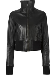 Anthony Vaccarello Ribbed Cuff Jacket Black