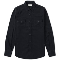 Saint Laurent Western Denim Shirt Black
