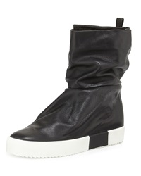 Giuseppe Zanotti Leather Slouch Collar Boot Black