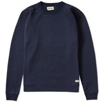 Oliver Spencer Saddle Crew Sweat Blue