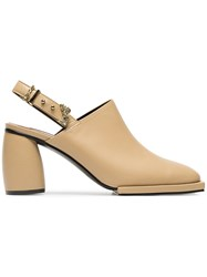 Reike Nen Beige 80 Square Toe Leather Pumps Nude And Neutrals