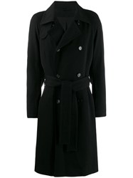 Ann Demeulemeester Double Breasted Coat Black