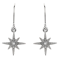 Cachet London North Star Earrings Silver