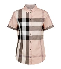 Burberry House Check Short Sleeve Shirt Female Camel