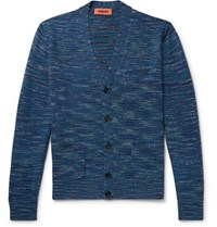 Missoni Space Dyed Wool Cardigan Blue