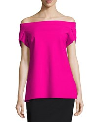 La Petite Robe Di Chiara Boni Maisie Off The Shoulder Fluid Jersey Top Azela Pink