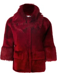 Desa 1972 Shearling Jacket Red