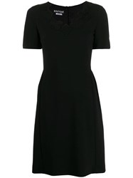 Boutique Moschino Card Patch Dress Black