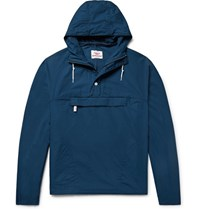 Battenwear Cotton Chambray Hooded Anorak Storm Blue