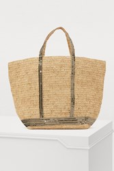 Vanessa Bruno Large Sequined Raffia Tote