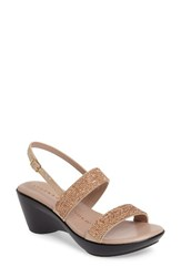 Athena Alexander Women's Azrael Sandal Rose Gold Faux Leather
