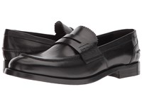 Canali Penny Loafer Black Shoes